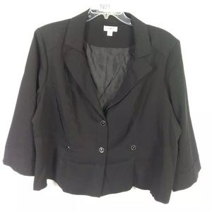 Cato Dressy Black Jacket Blazer Women's Plus Sz 26